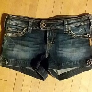 Silver Jeans Shorts - Silver Marti Jean Shorts